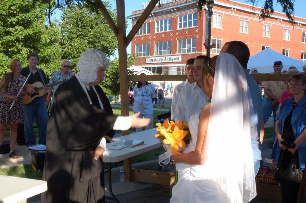 2009 Festival - Wedding in the Brush Arbor with Hon. David P. Evans