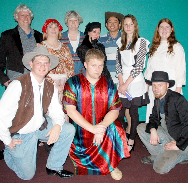 Cast members include, front row, from left, Hayden Topliff, Tray Whitsell and Jim Clemens; back row, Grayson Gordon, Kileene Collins, Terri Whitsell, Candi Williams, Chulapol Thanomsing, Paige Davis and Abigail Ellsworth