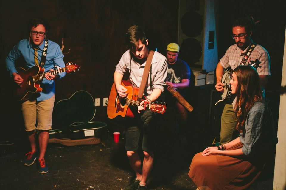 From left to right: Grant Hamby, Daniel Meade, Jason Bromley, standing - Chris Olson, sitting - Becca Graham