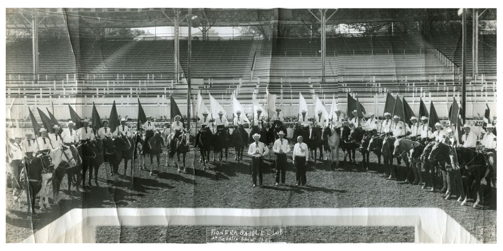 Pioneer Saddle Club Drill Team, Sedalia, MO 1956